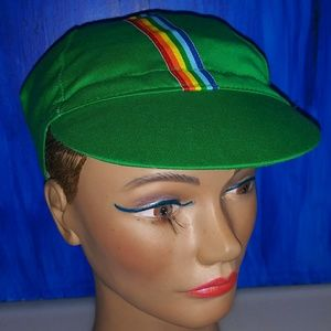 Green riding hat